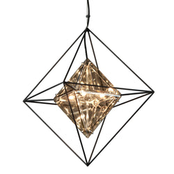 Troy Lighting F5325 Epic 4lt Pendant Small in Hand-Worked Iron