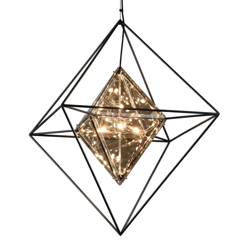 Troy Lighting F5327 Epic 8lt Pendant Large in Hand-Worked Iron