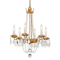 Troy Lighting F5365 Viola 6lt Chandelier Small in Hand-Worked Iron