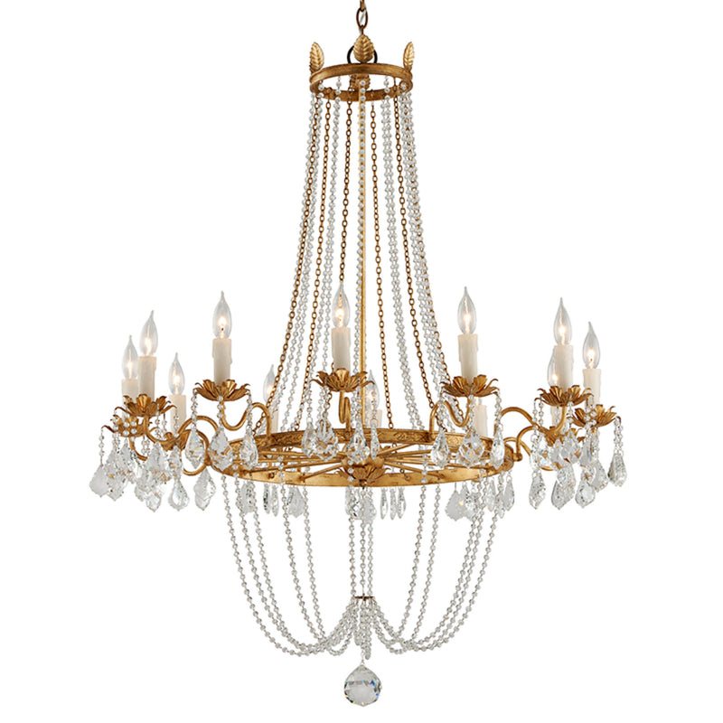Troy Lighting F5367 Viola 12lt Chandelier Large in Hand-Worked Iron