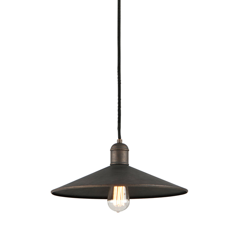 Troy Lighting F5422 Mccoy 1lt Pendant Mini Small in Hand-Worked Iron