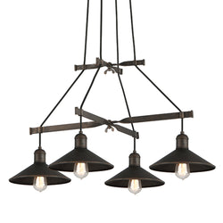 Troy Lighting F5427 Mccoy 4lt Chandelier Medium in Hand-Worked Iron
