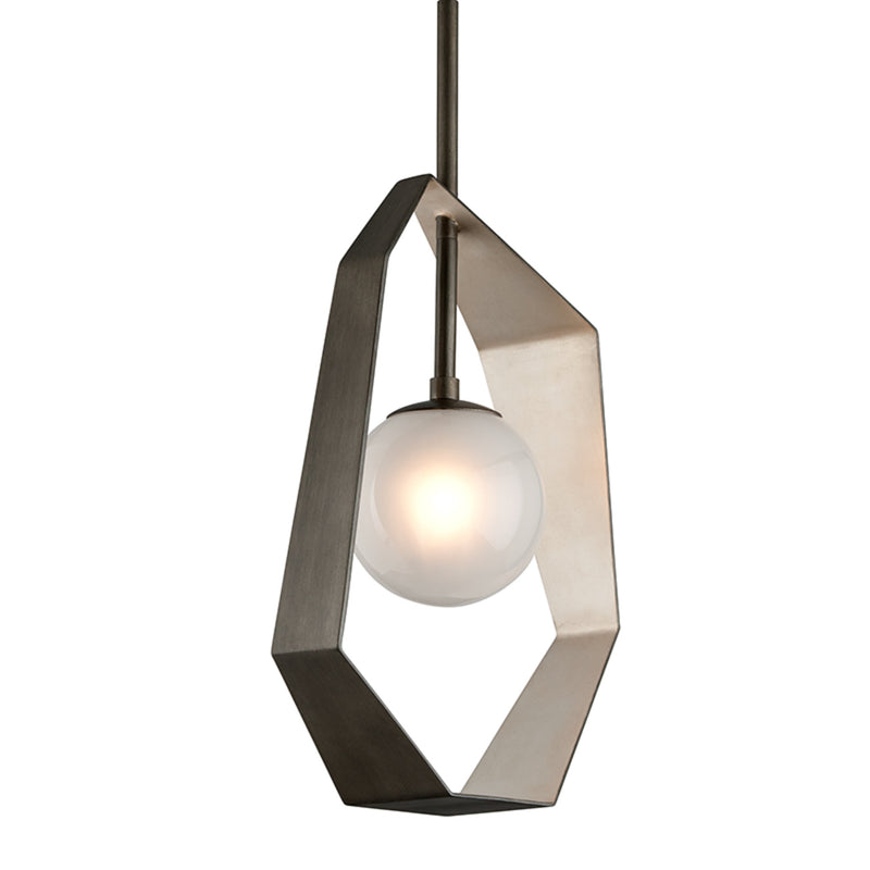 Troy Lighting F5533 Origami 1lt Pendant Small in Hand-Worked Iron
