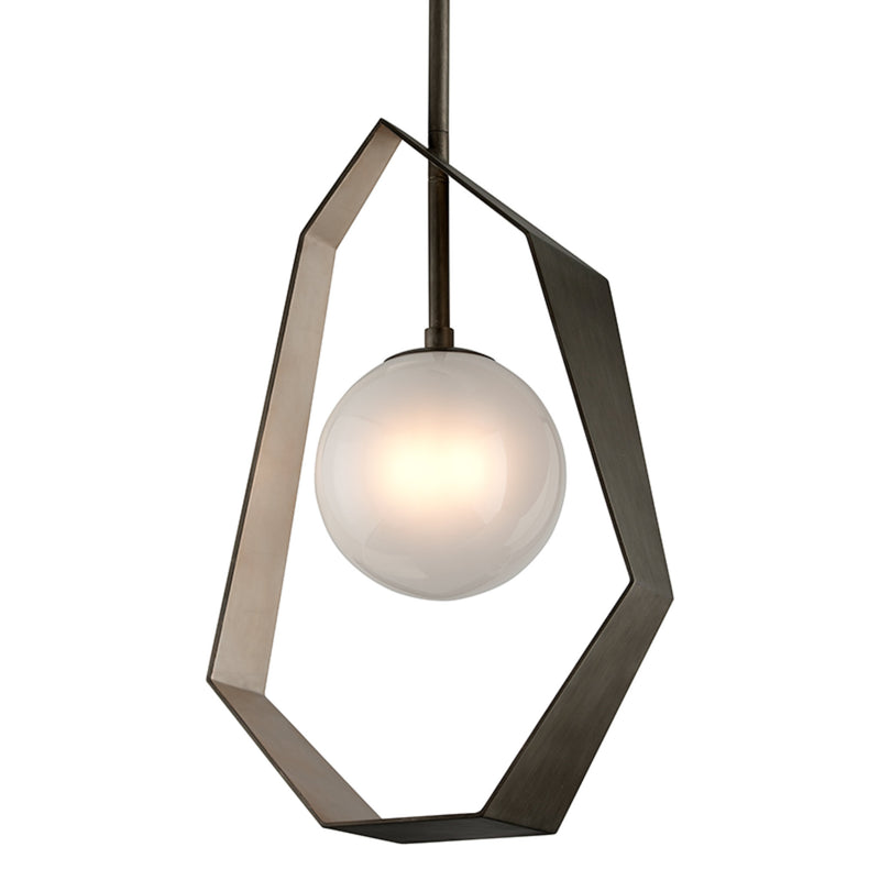 Troy Lighting F5535 Origami 1lt Pendant Large in Hand-Worked Iron