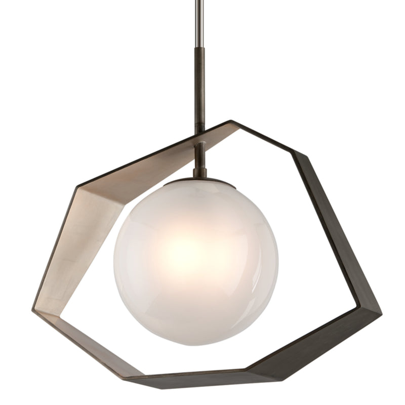 Troy Lighting F5536 Origami 1lt Pendant Dining in Hand-Worked Iron