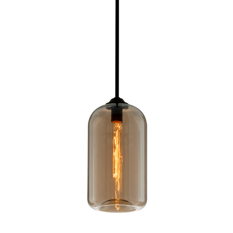 Troy Lighting F5571 District 1lt Pendant Small in Hand-Worked Iron