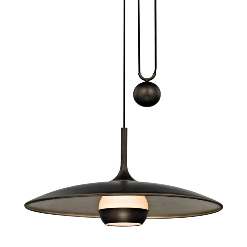 Troy Lighting F5866 Alchemy 1lt Pendant in Hand-Worked Iron