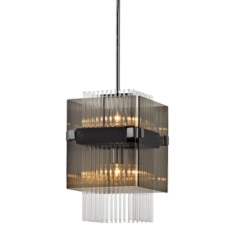 Troy Lighting F5904 Apollo 2lt Pendant Mini in Hand-Worked Iron
