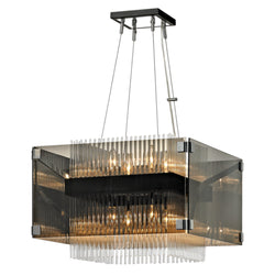 Troy Lighting F5905 Apollo 8lt Chandelier in Hand-Worked Iron