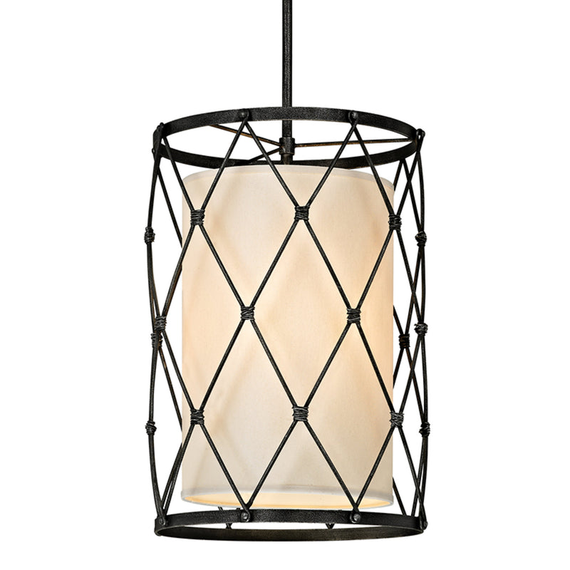 Troy Lighting F5944 Palisade 4lt Pendant in Hand-Worked Iron