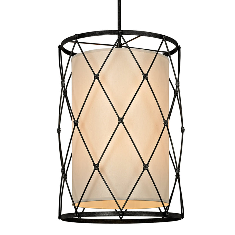 Troy Lighting F5948 Palisade 8lt Pendant in Hand-Worked Iron