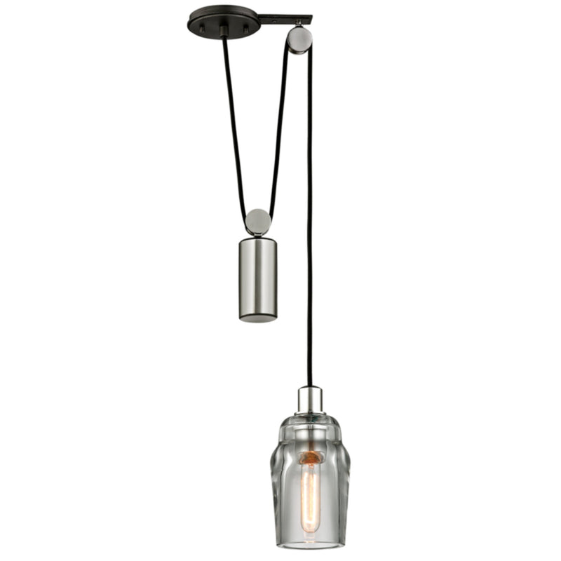 Troy Lighting F5992 Citizen 1lt Pendant Mini Pulley in Hand-Worked Iron