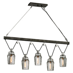 Troy Lighting F5995 Citizen 5lt Island in Hand-Worked Iron