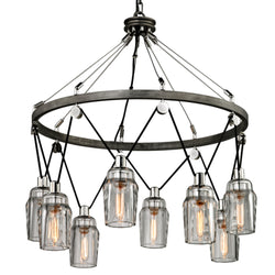 Troy Lighting F5998 Citizen 8lt Pendant Large in Hand-Worked Iron