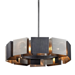 Troy Lighting F6045 Impression 10lt Pendant in Hand-Worked Iron