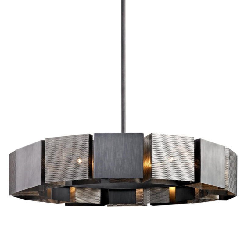 Troy Lighting F6046 Impression 14lt Pendant in Hand-Worked Iron