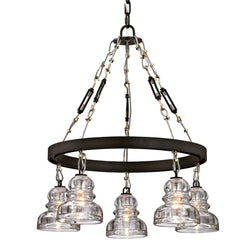 Troy Lighting F6055 Menlo Park 5lt in Hand-Worked Iron