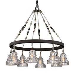 Troy Lighting F6056 Menlo Park 8lt in Hand-Worked Iron