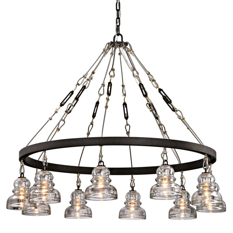 Troy Lighting F6057 Menlo Park 10lt in Hand-Worked Iron
