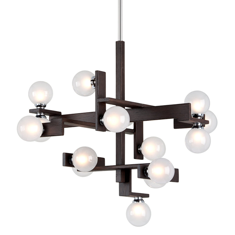 Troy Lighting F6074 Network 15lt Pendant Dining in Hand-Worked Iron