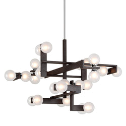 Troy Lighting F6076 Network 24lt Pendant Entry in Hand-Worked Iron