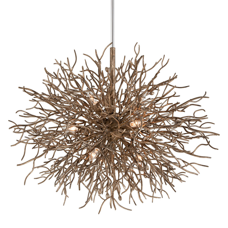 Troy Lighting F6097 Sierra 9lt Pendant in Hand-Worked Iron