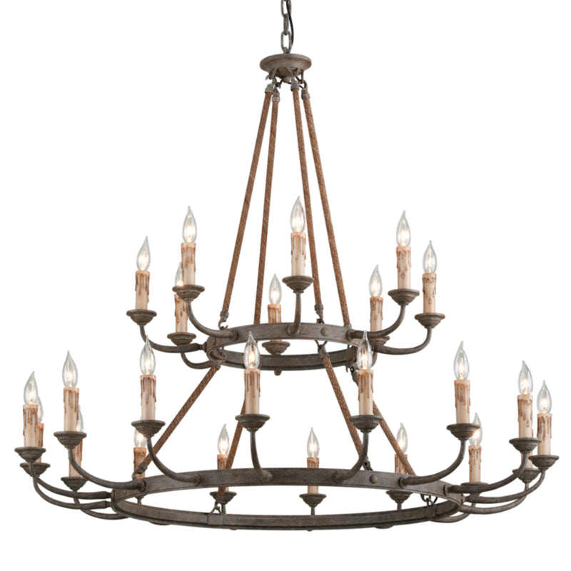 Troy Lighting F6118 Cyrano 24lt Chandelier in Hand-Worked Iron
