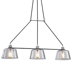 Troy Lighting F6154 Audiophile 3lt Pendant Island in Hand-Worked Iron