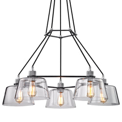 Troy Lighting F6155 Audiophile 5lt Chandelier in Hand-Worked Iron