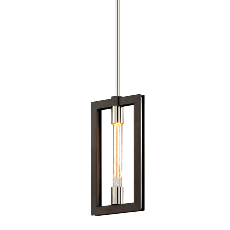Troy Lighting F6183 Enigma 1lt Mini Pendant in Hand-Worked Iron