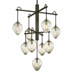 Troy Lighting F6207 Brixton 9lt Pendant in Hand-Worked Iron