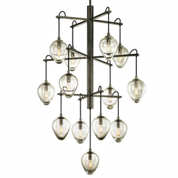 Troy Lighting F6208 Brixton 13lt Pendant in Hand-Worked Iron