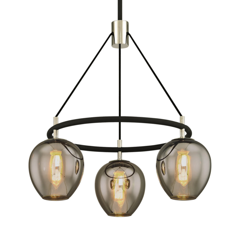 Troy Lighting F6213 Iliad 3lt Pendant in Hand-Worked Iron