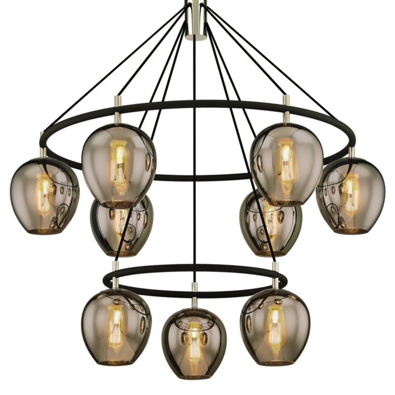 Troy Lighting F6219 Iliad 9lt Pendant in Hand-Worked Iron