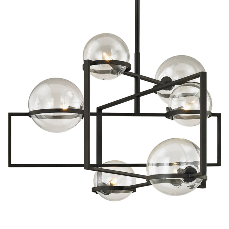 Troy Lighting F6226 Elliot 6lt Pendant in Hand-Worked Iron