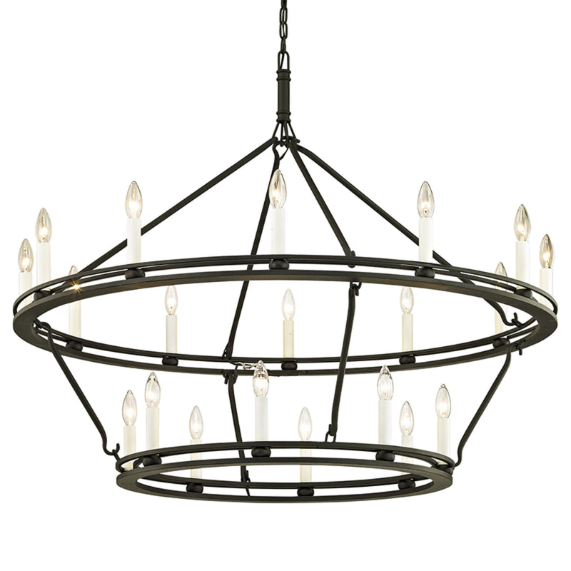 Troy Lighting F6239 Sutton 20lt Chandelier in Hand-Worked Iron