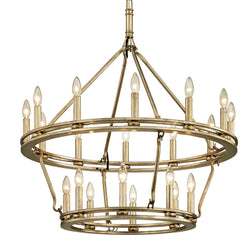 Troy Lighting F6248 Sutton 20lt Chandelier in Hand-Worked Iron