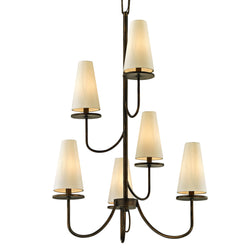 Troy Lighting F6297 Marcel 6lt Chandelier in Hand-Worked Iron