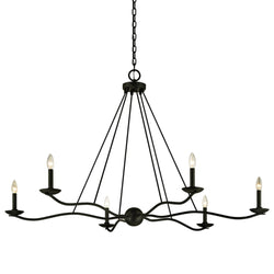 Troy Lighting F6306 Sawyer 6lt Chandelier in Hand-Worked Iron
