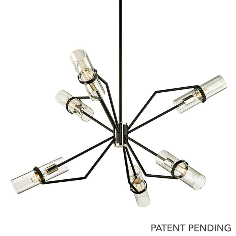 Troy Lighting F6326 Raef 6lt Chandelier in Hand-Worked Iron