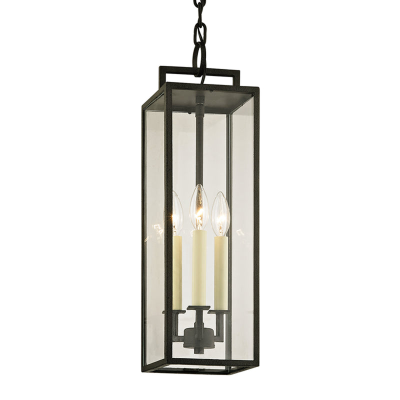 Troy Lighting F6387 Beckham 3lt Hanger in Hand-Worked Iron
