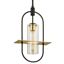 Troy Lighting F6397 Smyth 1lt Hanger in Hand-Worked Iron And Brass