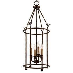 Troy Lighting F6644 Paso Robles 4lt Pendant in Hand-Worked Iron