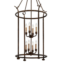 Troy Lighting F6648 Paso Robles 8lt Pendant in Hand-Worked Iron