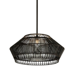 Troy Lighting F6724 Hunters Point 1lt Pendant in Hand-Worked Iron