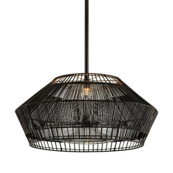 Troy Lighting F6725 Hunters Point 1lt Pendant in Hand-Worked Iron