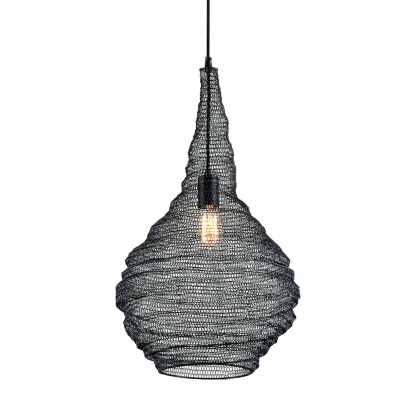 Troy Lighting F6771 Wabi Sabi 1lt Pendant in Hand-Worked Iron