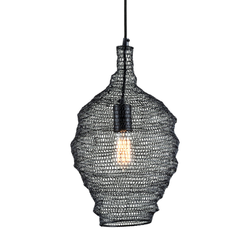 Troy Lighting F6775 Wabi Sabi 1lt Pendant in Hand-Worked Iron