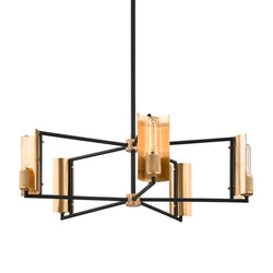 Troy Lighting F6785 Emerson 5lt Chandelier in Hand-Worked Iron And Brass