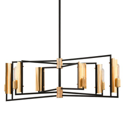 Troy Lighting F6787 Emerson 6lt Linear in Hand-Worked Iron And Brass